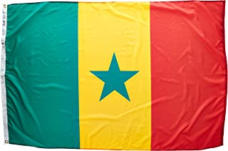 product image for Annin Flagmakers Model 197254 Senegal Flag Nylon SolarGuard NYL-Glo, 4x6 ft, 100% Made in USA to Official United Nations Design Specifications