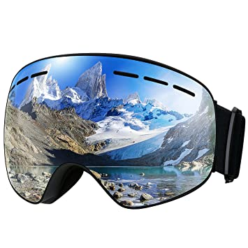 Mpow Masque de Ski Lunettes de Ski Femme et Homme Masque Snowboard Double  Grande Lentille OTG 348c2a42688e