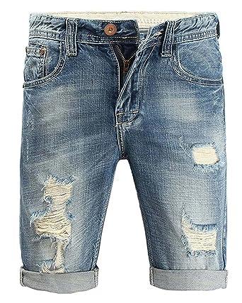 Minetom Jeans Freizeit Sommer Cargo Shorts Herren Bermuda Vintage v8m0NnwO