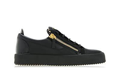 8f4bcc5b6cf45 Giuseppe Zanotti Design Shoes Frankie Zipped Leather Low TOP Sneakers Black  (40 - UK 6
