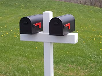 double mailbox post plans. Amazon.com : Handy Post Double 54-in X 32-in White Vinyl Mailbox Sleeve Garden \u0026 Outdoor Plans G