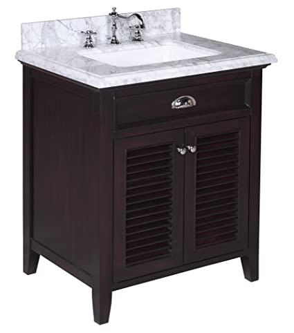 Charmant Kitchen Bath Collection KBC SH30BRCARR Savannah Bathroom Vanity With Marble  Countertop, Cabinet With Soft