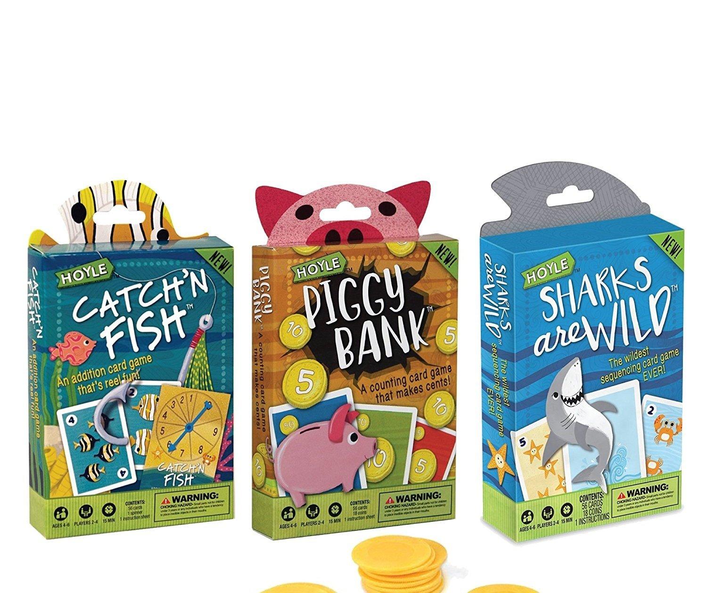 Hoyle 3 - Pack Kids Playing Cards ( Catch ' n魚、サメはワイルド、貯金箱)   B07C3JRT18