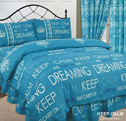 Keep Calm and Carry On soñando/saco de dormir, diseño de Laura OLIVIA/