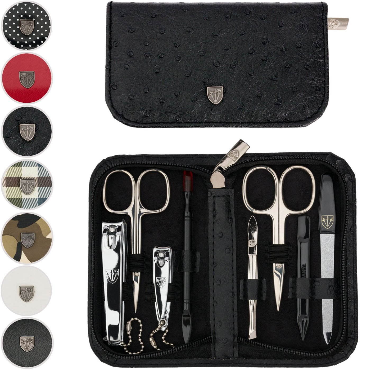 TROIS EPÉES   Kit / set / ensemble / trousse de manicure - manucure - pédicure - beauty / beaute - soins des ongles / personnels / mains / pieds   8 pièces   DIVERS DESIGN  marque de qualitè (522016)