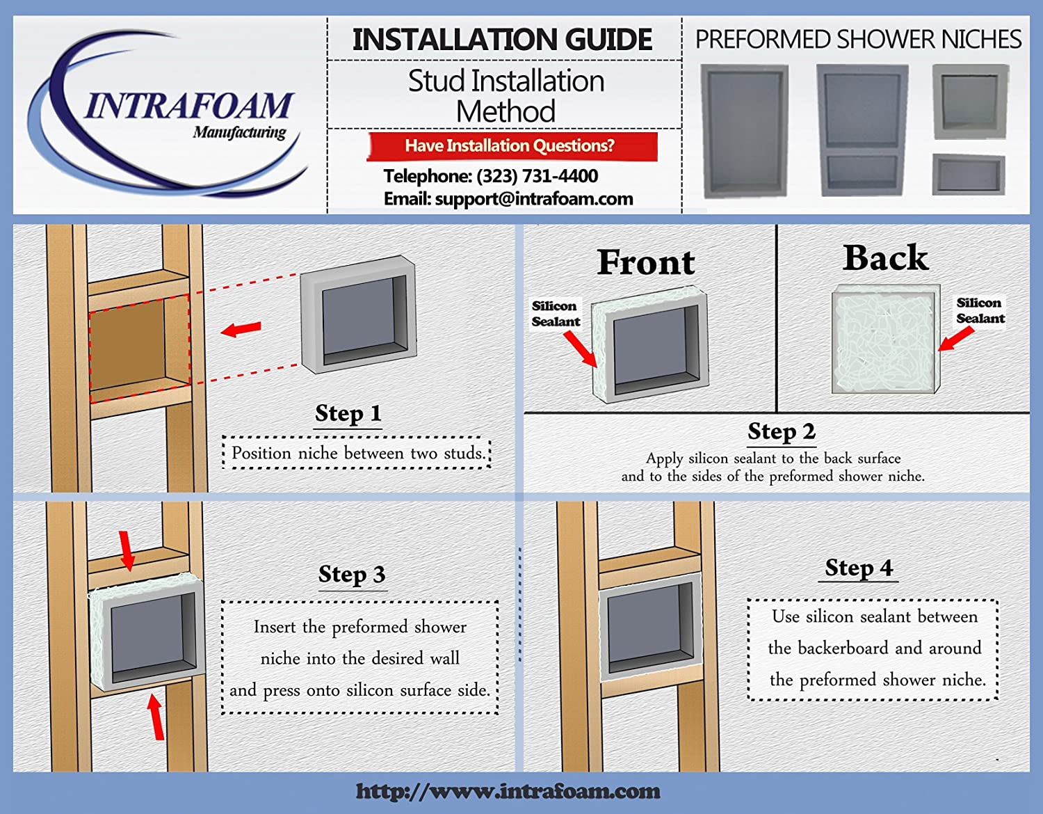 Charmant Preformed Double Recessed Shower Niche [Size:14x22]   Ready To Tile U0026  Waterproof   Shower Systems   Amazon.com