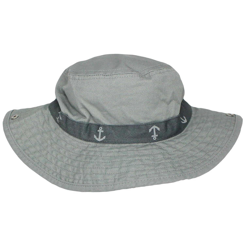 34d814fd8c2 Amazon.com  Carter s Safari Outdoor Bucket Infant Boys Sun Hat Grey 100%  Cotton 12-24M  Baby