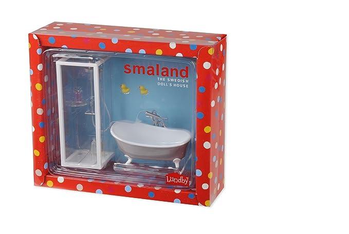 Puppenstuben & -häuser Lundby Smaland 1:18 Puppenhaus Badezimmer Möbel Bad und Dusche Set