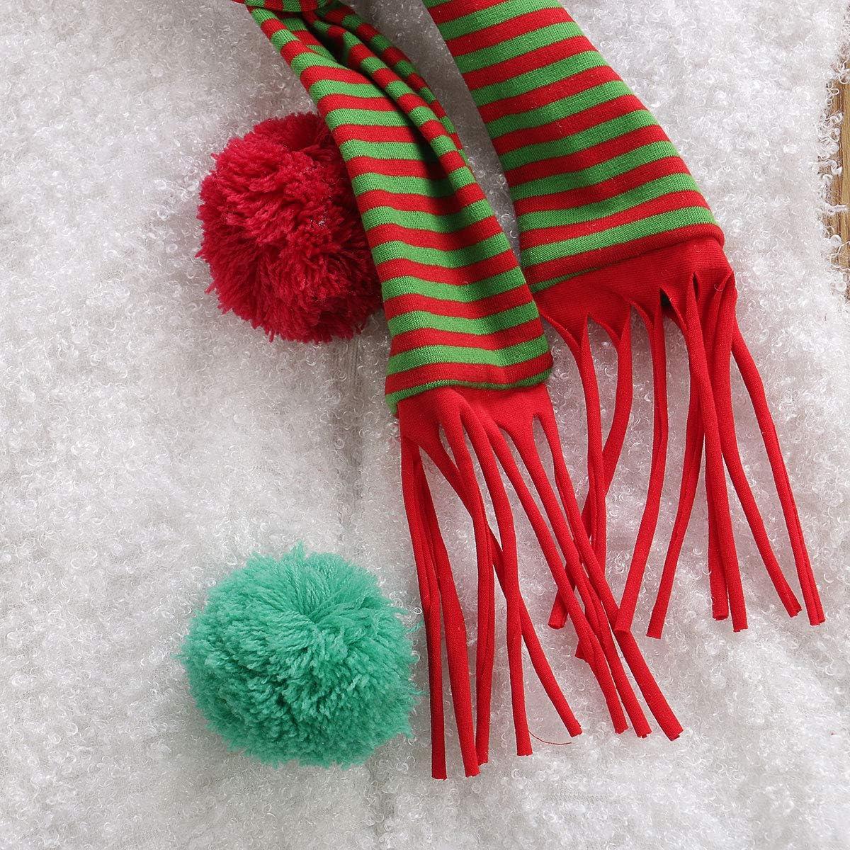 Vavshop Vestito Incappucciato per Cosplay del Pupazzo di Neve del Babbo Natale del Pagliaccetto di Natale del Neonato delle Ragazze del Neonato