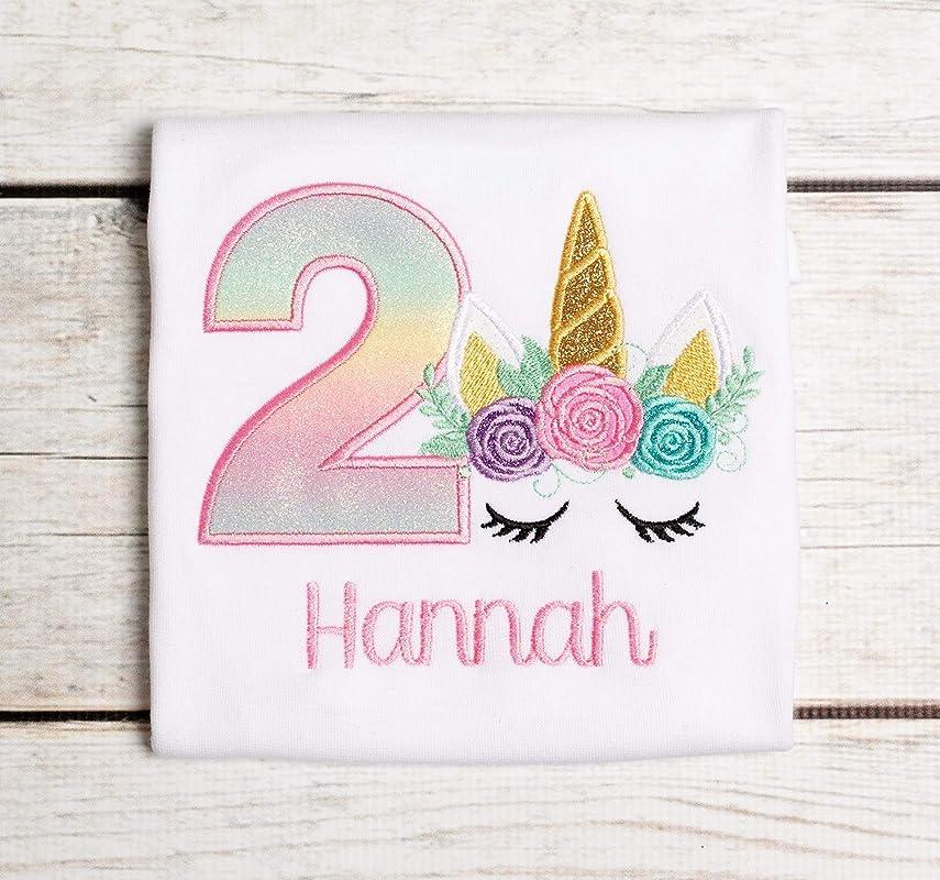 Girls Second Birthday Unicorn Outfit 2nd Birthday Unicorn Onesie Two Shirt Second Birthday Shirt Unicorn Birthday Shirt Sparkle Shorts