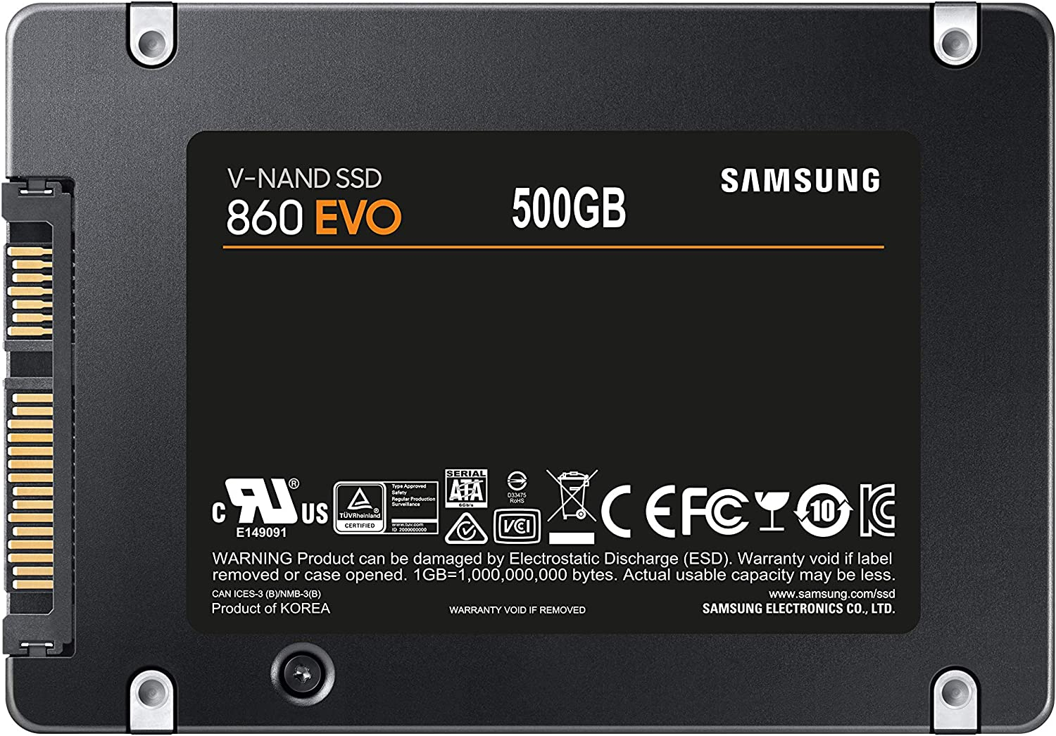 Samsung 860 EVO - Disco estado solido SSD (500 GB, 6 Gb/s) color ...
