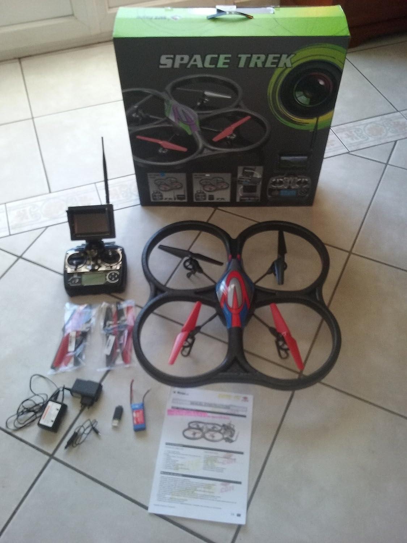 RC cuadricóptero–Dron WLToys V6665.8GHz FPV–Cámara HD–Monitor Tiempo real