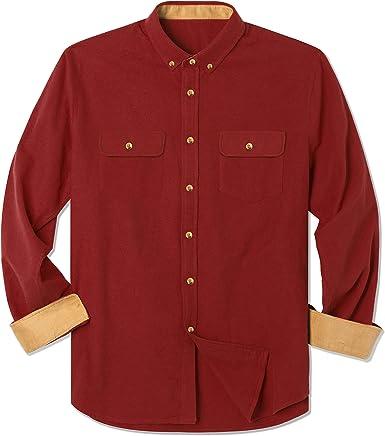 FTIMILD - Camisa de Trabajo de Manga Larga de algodón Cepillado para Hombre: Amazon.es: Ropa y accesorios