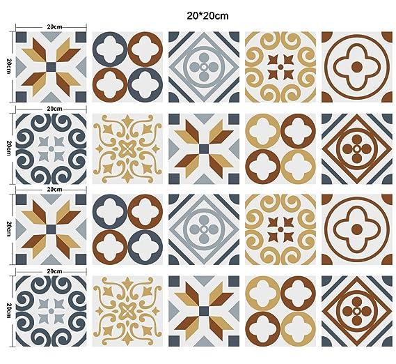 10cm Z Stickers muraux Carreaux en Vintage Salle de Bain et Cuisine 10 adh/ésif Sticker Feuille pour Carreaux Salle de Bain et cr/édence Cuisine Jaune CZ043