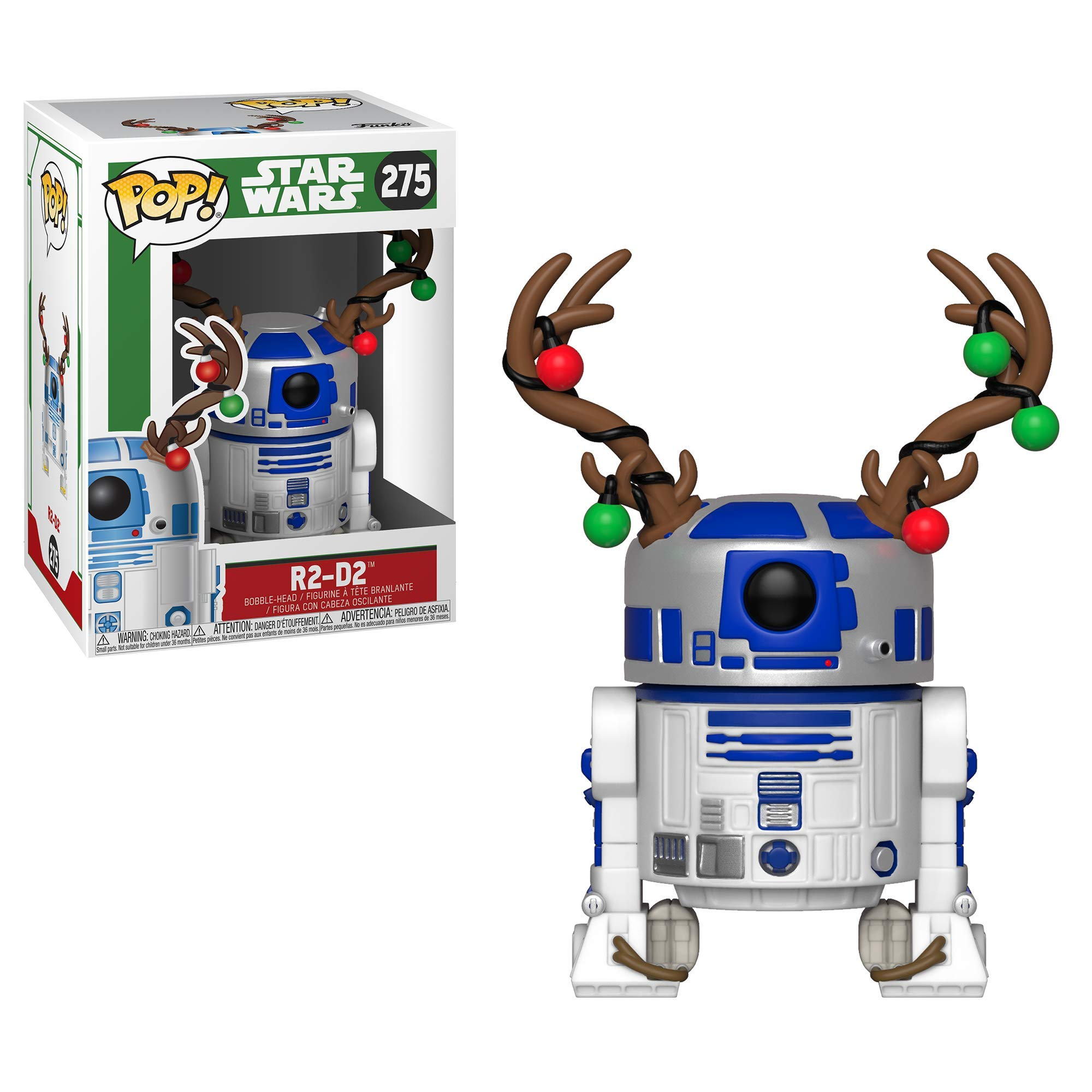 Funko Pop Star Wars: Holiday - R2D2 with Antlers Collectible Figure, Multicolor by Funko (Image #2)