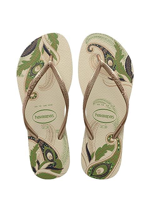 bda01e3667373 Havaianas Slim Organic Flip Flop Beige - 2-3 UK