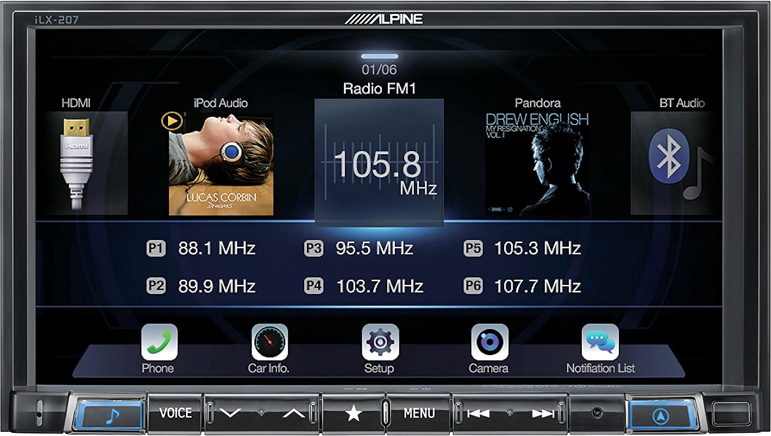 Alpine iLX-207 Apple CarPlay & Android Auto Receiver