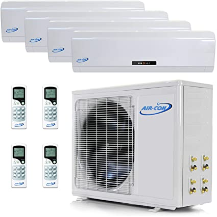 Multi Zone Mini Split Ductless Air Conditioner – Quad Zone 9000 + 9000 + 9000 +