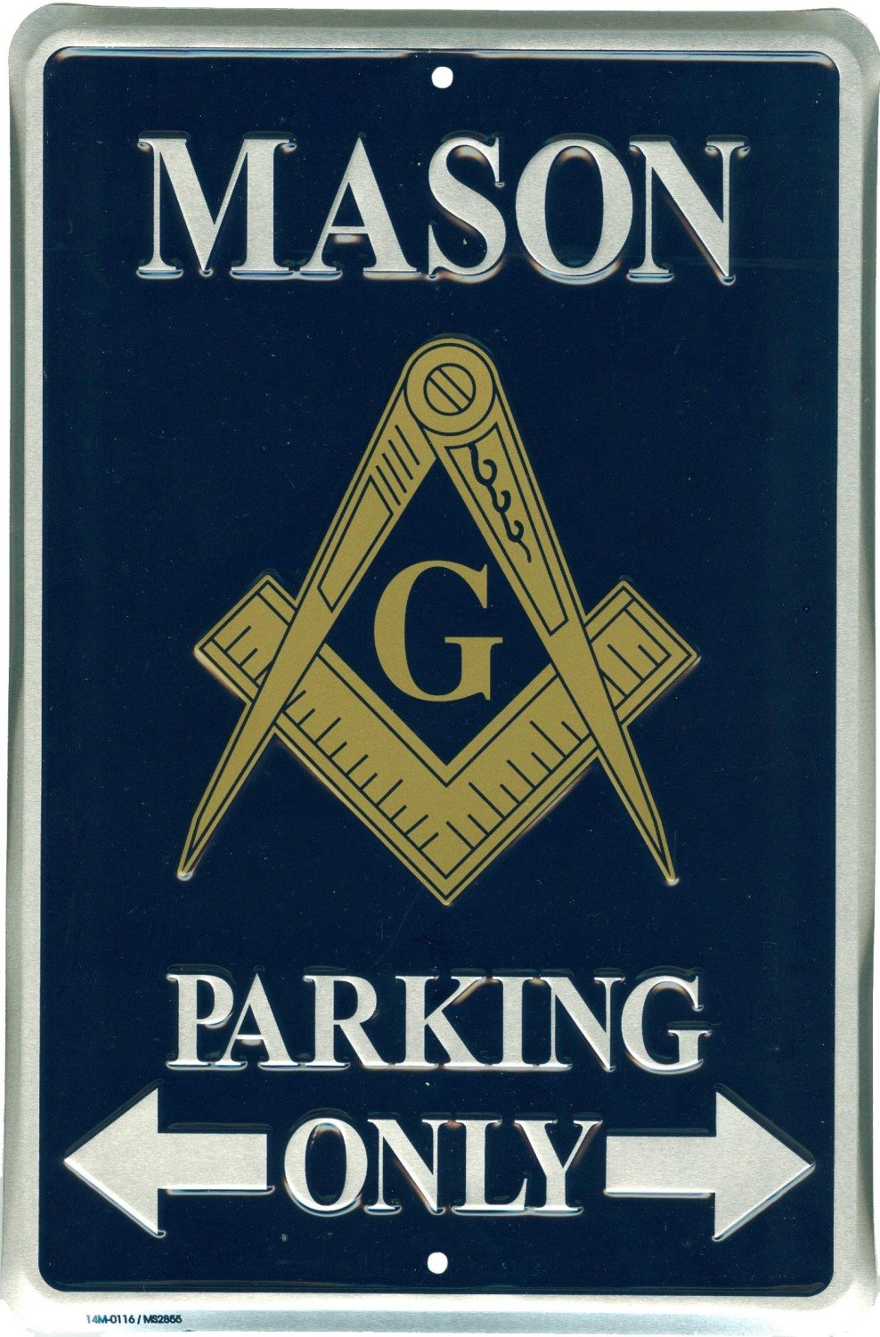 Mason Parking Only Novelty Metal Sign for Garage Bar Office Porch Lawn