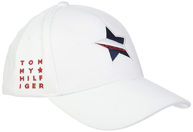Tommy Hilfiger Mascot Race Cap, Gorra de béisbol para Mujer, Blanco (Bright White