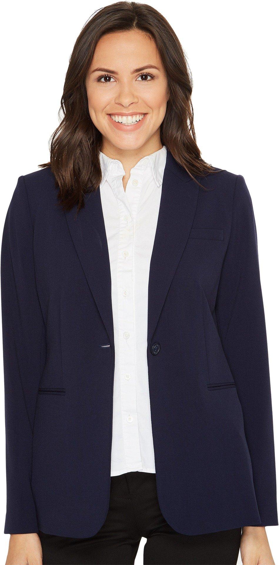 Calvin Klein Women's Single Button Suit Jacket, Twilight, 10