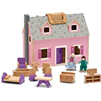 Deals on Melissa & Doug Fold and Go Wooden Dollhouse
