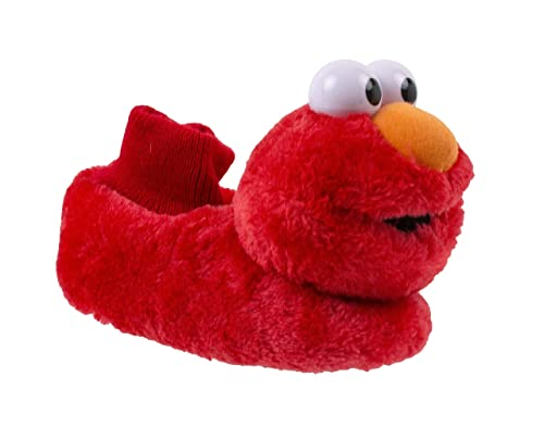 625a06bb055 Sesame Street Baby Tickle Me Elmo Slippers with Giggle Sound
