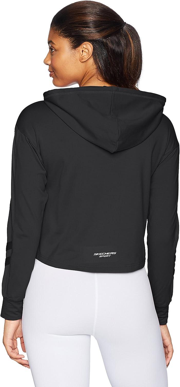 Skechers Womens Sporty Cropped Hoodie Sweatshirt