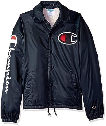 Amazon.com  Champion LIFE Men s Sherpa Lined Coaches Jacket  Clothing 774a0167ba38