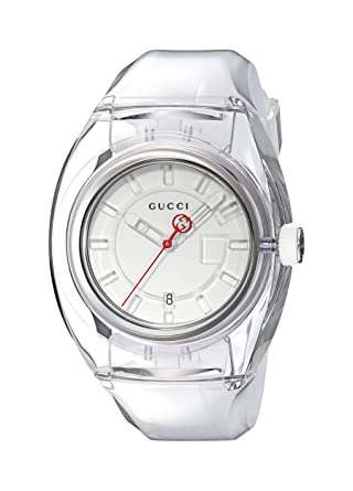 1f057a3dcb4 Amazon.com  Gucci Quartz Stainless Steel and Rubber Casual White Women s  Watch(Model  YA137110)  Watches