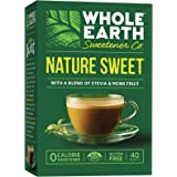 Whole Earth Sweetener, Nature Sweet Stevia & Monk Fruit Blend, 40-Count (Pack of 12)