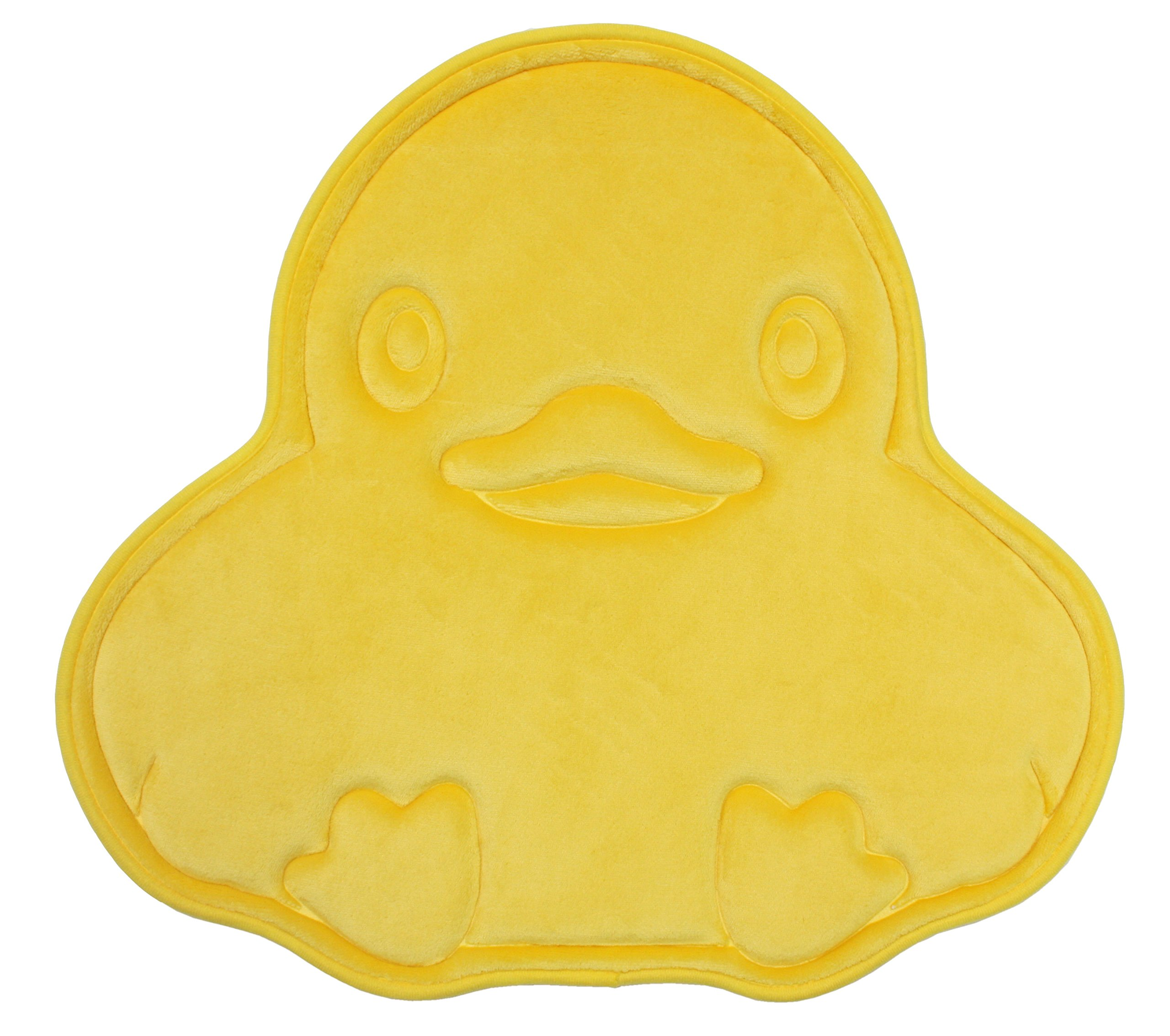 Memory Foam Kid's Bath Mat Non Slip Ultra Soft and Absorbent 22x24'', Machine Washable Fast Dry for Shower, Vanity, Bath Tub, Sink, and Toilet-Yellow Duck