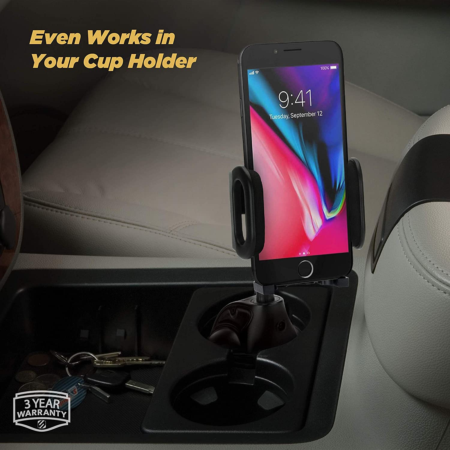Home or Office SCOSCHE IHW10-SP1 STUCKUP Universal 4-in-1 Smartphone//GPS Suction Cup//Vent Mount Kit for the Car