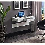 "Convenience Concepts SoHo Glass 36"" Desk, White"