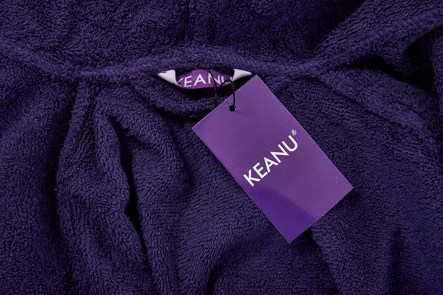 Keanu Ladies 100/% Pure Cotton Terry Towelling Dressing Gown Bathrobe Highly Absorbent Shawl Collar//Hooded Towel Bath Wrap