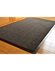 TrendMakers Barrier Mats Heavy Quality Non Slip Hard Wearing Barrier Mat. PVC Edged Heavy Duty Kitchen Mat Rug Available in 8 sizes (90cm x 150cm)-GREY w/Black Speckled