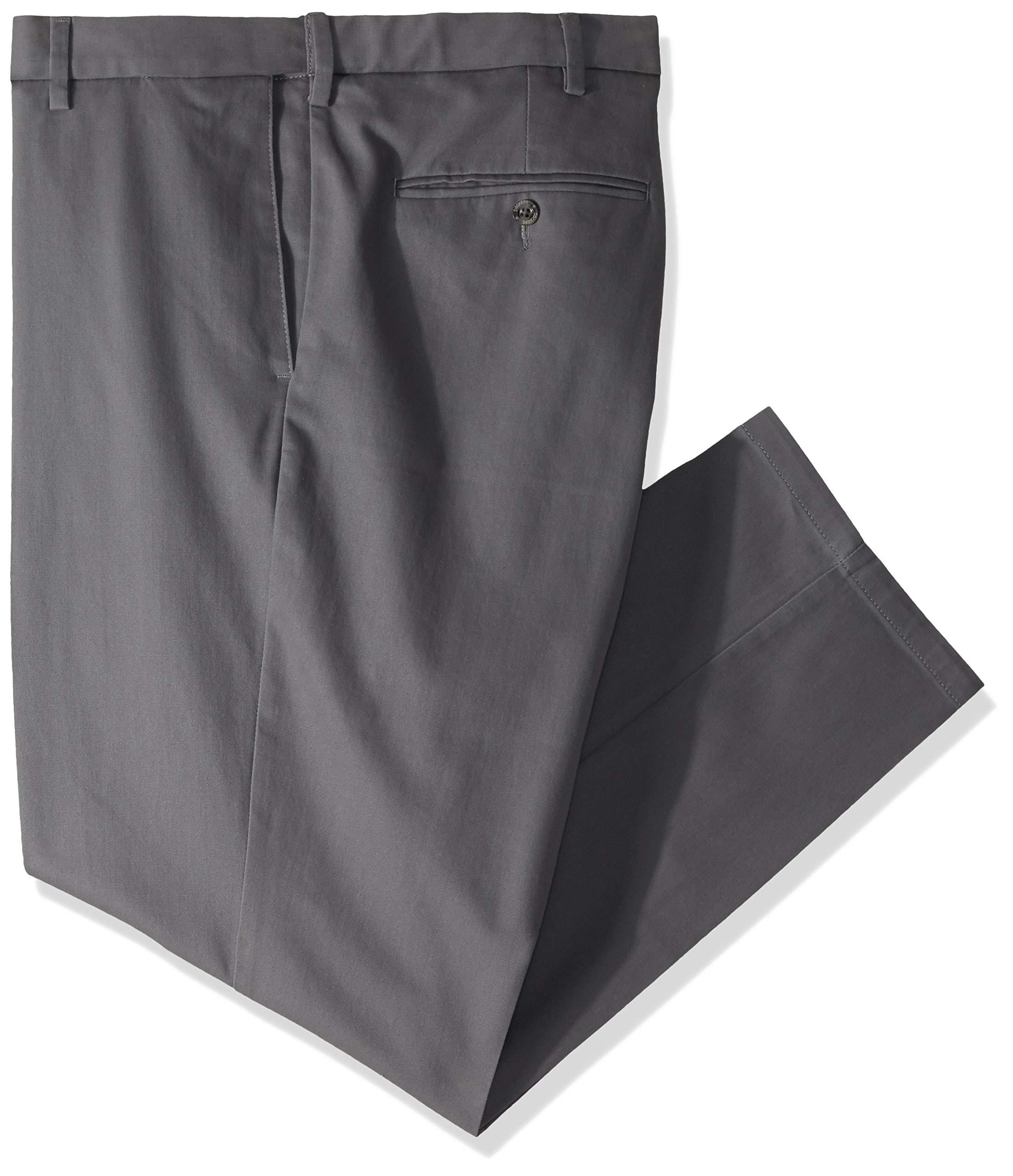 Dockers Men's Big and Tall Modern Tapered Fit Signature Khaki Pants, Burma Grey, 48W x 29L by Dockers (Image #2)