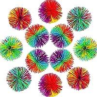 Monkey Stringy Balls, Rainbow Pom Bouncy Stress Sensory Fidget Stringy Ball