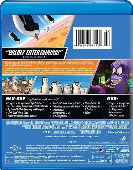 Penguins Of Madagascar Bilingual Blu Ray Amazonca Tom
