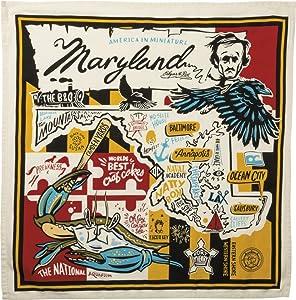 "Primitives by Kathy Wanderlust Dish Towel, 28"" x 28"", Super Maryland"