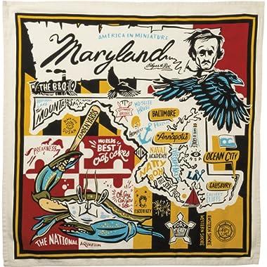 Primitives by Kathy Wanderlust Dish Towel, 28  x 28 , Super Maryland