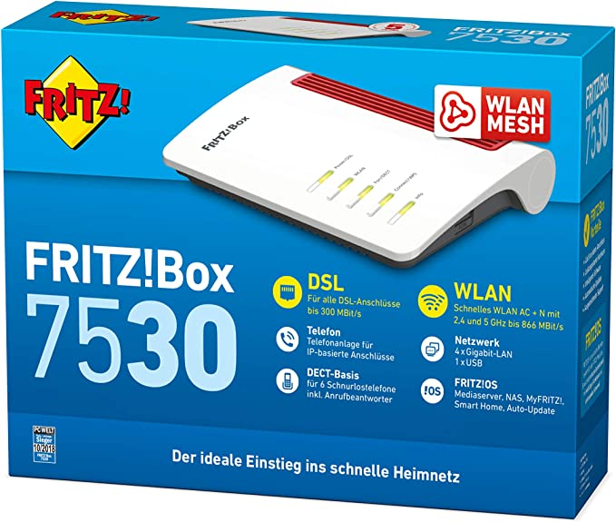 Avm Fritz Box 7530 High End Wlan Ac N Router Computers Accessories