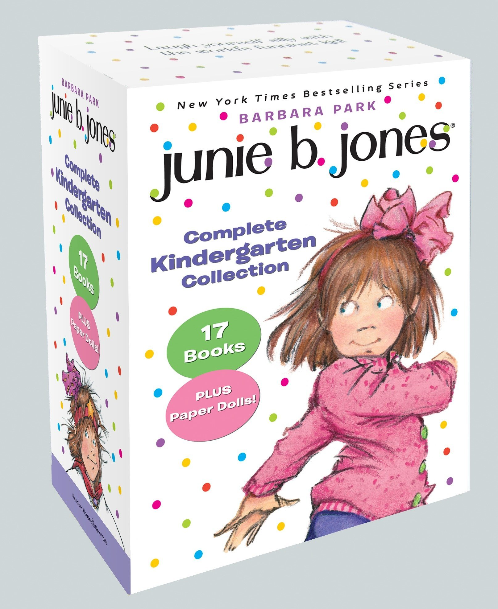 Junie B. Jones Complete Kindergarten Collection: Books 1-17 with paper dolls in boxed set by RHBYR (Image #1)
