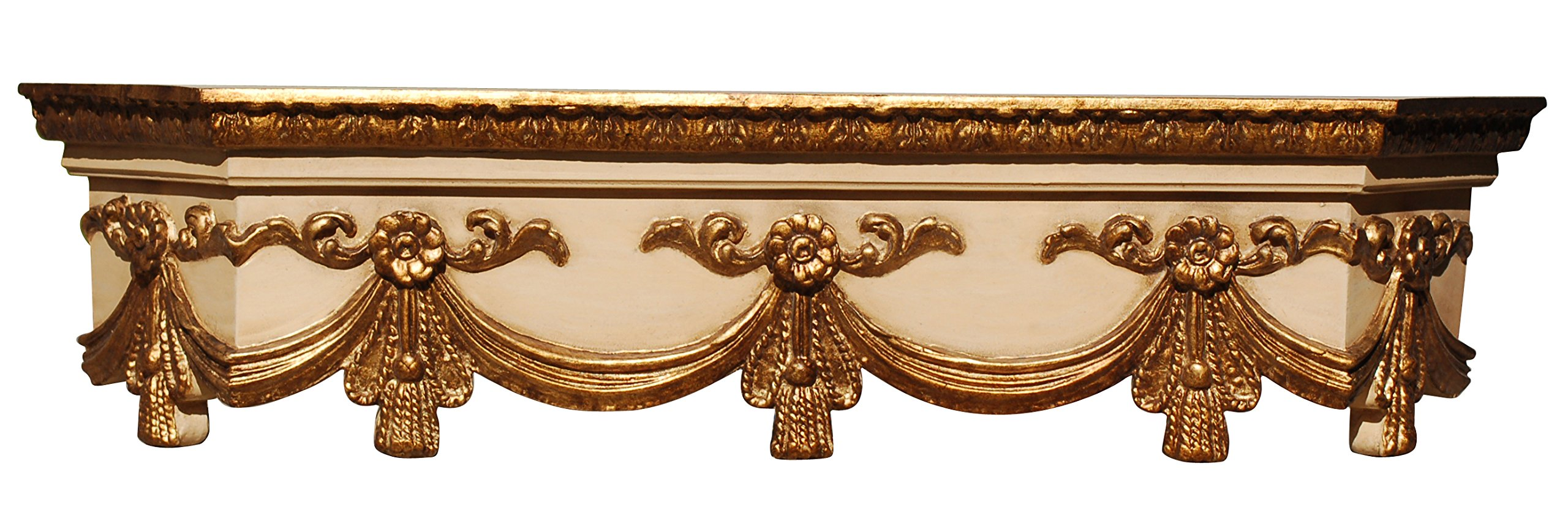 Hickory Manor House Swag Bedcrown, Large, Ivory Gold by Hickory Manor House