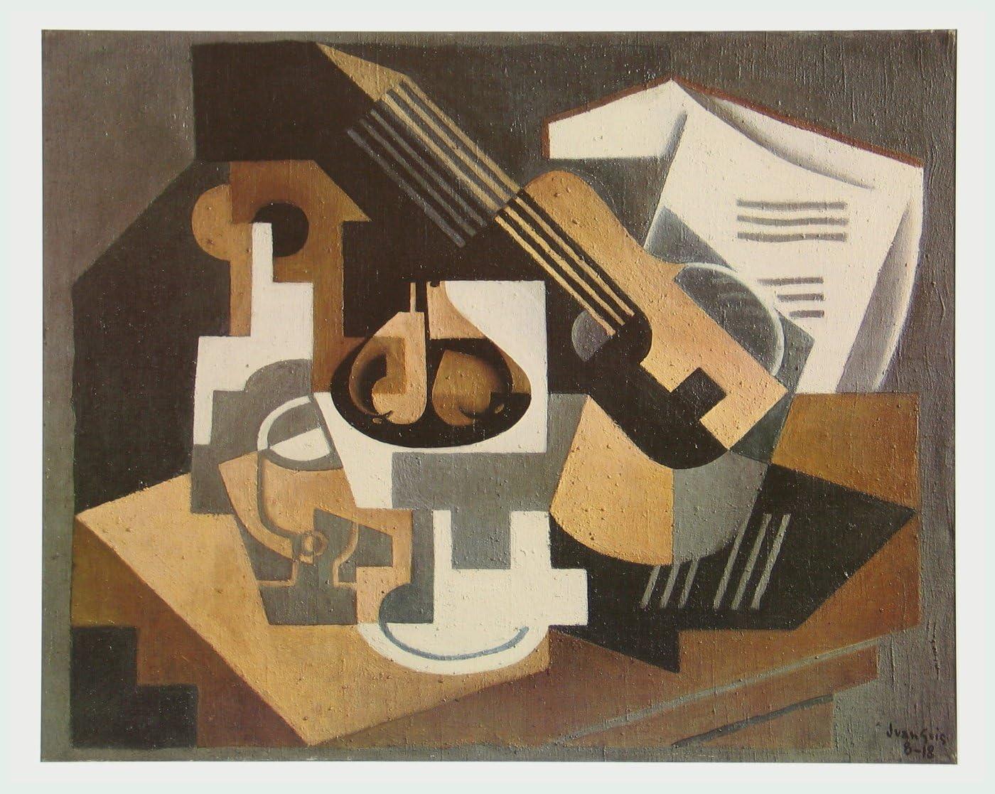 Guitarra y frutero en una mesa, 1918 de Juan Gris: Amazon.es: Hogar