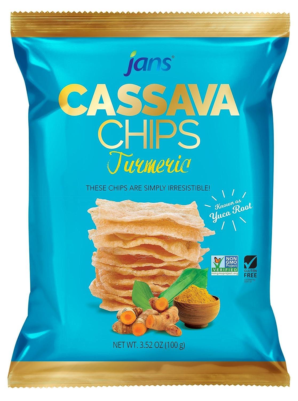 Jans Cassava Chips Turmeric Flavor 3.52 oz