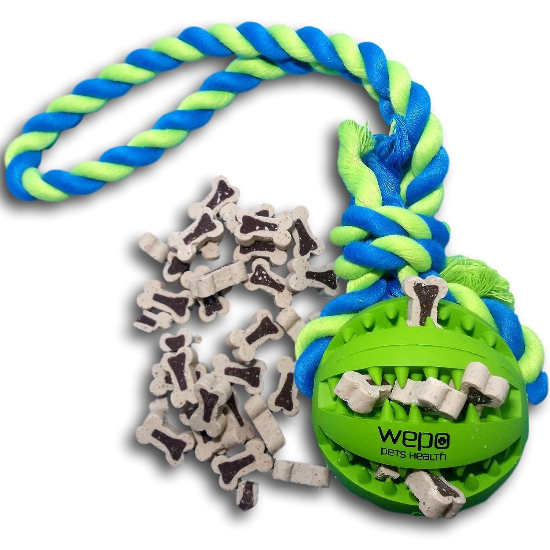 natu Wepo Hundespielzeug L Robuster Schleuderball Mit Noppen Aus Naturkautschuk Metallobjekte