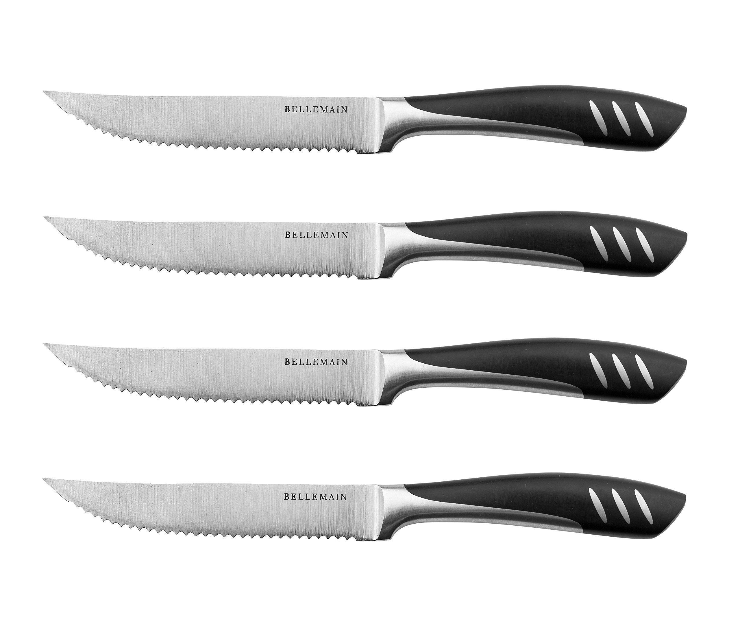 Bellemain Premium Steak Knife Set of 4 Stainless Steel by Bellemain