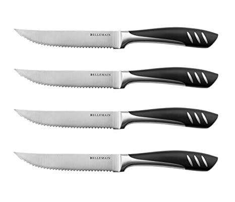 Amazon.com: Bellemain - set de cuchillos para carne de acero ...