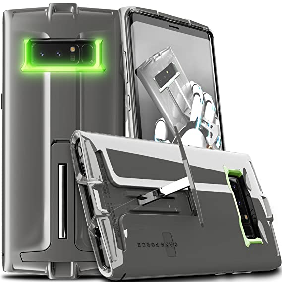 finest selection 4537c 58bf3 CASE FORCE Note 8 Case [Thrust Series] Best Ultimate for Girls Women Men,  Kickstand Heavy Duty Military Grade Drop Protection,Clear TPU Unique Custom  ...